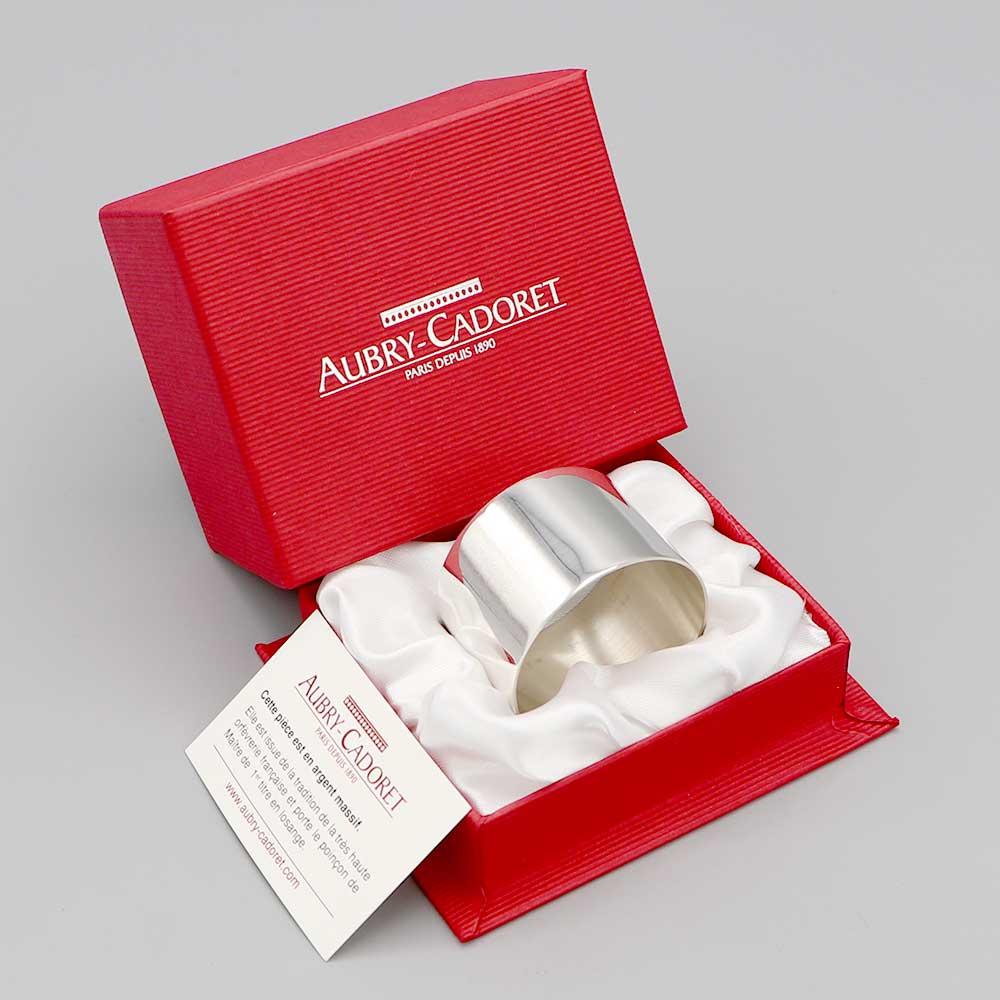 Aubry Cadoret Rond De serviette Argent Massif Certificat Authenticite Argent Massif Boite Feutrine Satin 2