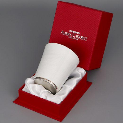 Timbale En Argent Aubry Cadoret Pantone Blanc