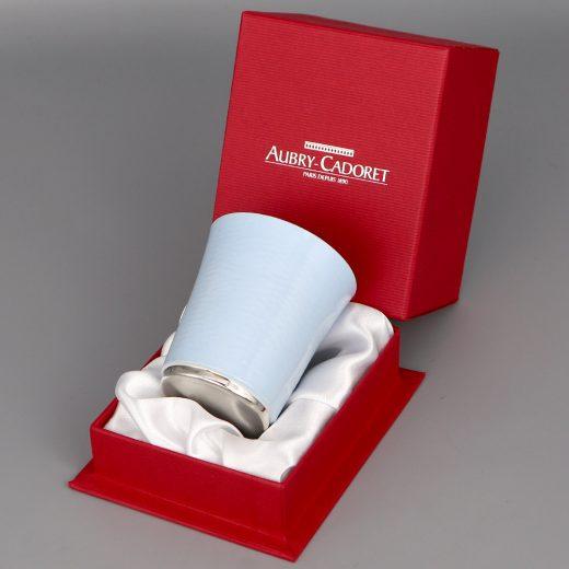 Timbale En Argent Aubry Cadoret Pantone Bleu