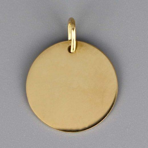 Aubry Cadoret Medaille Bapteme Or 18 Carats Jaune Jeton Laique Cadeaux De Famille