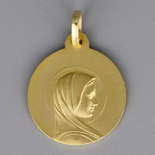 Aubry Cadoret Medaille Bapteme Or 18 Carats Jaune Vierge Jeune Cadeaux De Famille