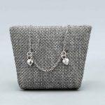 Bracelet Bébé Argent Massif Rhodie 2 Coeurs Cadeaux De Famille