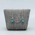 Bracelet Bébé Argent Massif Rhodie 2 Etoiles Bleues Cadeaux De Famille