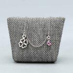Bracelet Bébé Argent Massif Rhodie Strass Trefle Cadeaux De Famille