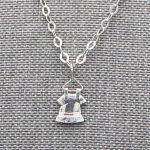 Colliers Pendentif Enfant Argent Massif Robe Cadeaux De Famille