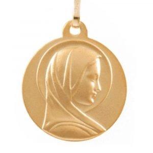 Médaille Vierge au Halo en or jaune 18 carats
