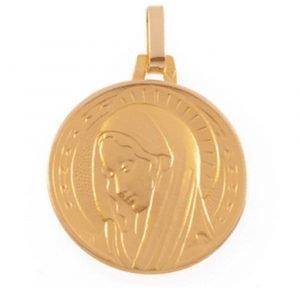 Médaille Vierge Auréolée en or jaune 18 carats