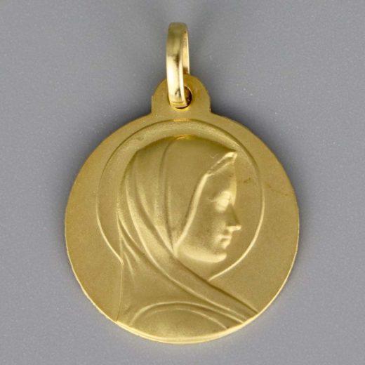 Aubry Cadoret Medaille Bapteme Or 9 Carats Jaune Vierge Halo Cadeaux De Famille
