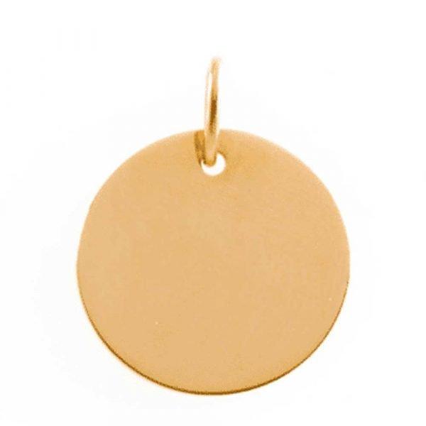 Medaille Vierge au Voile Etoile en or jaune 9 carats