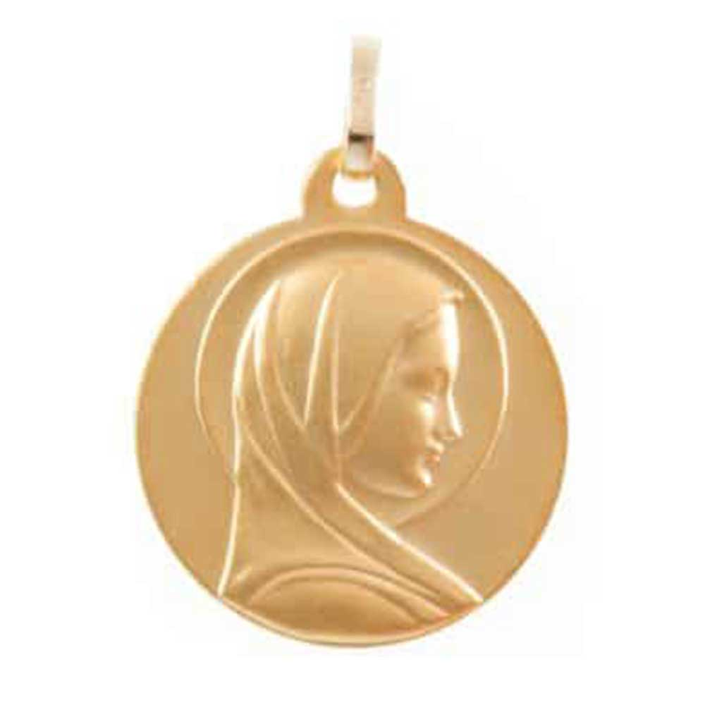 Medaille Vierge au Halo en or jaune 9 carats