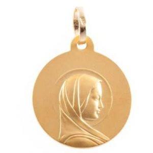 Medaille Vierge Jeune en or jaune 9 carats
