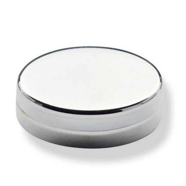 Boite metal argente ovale