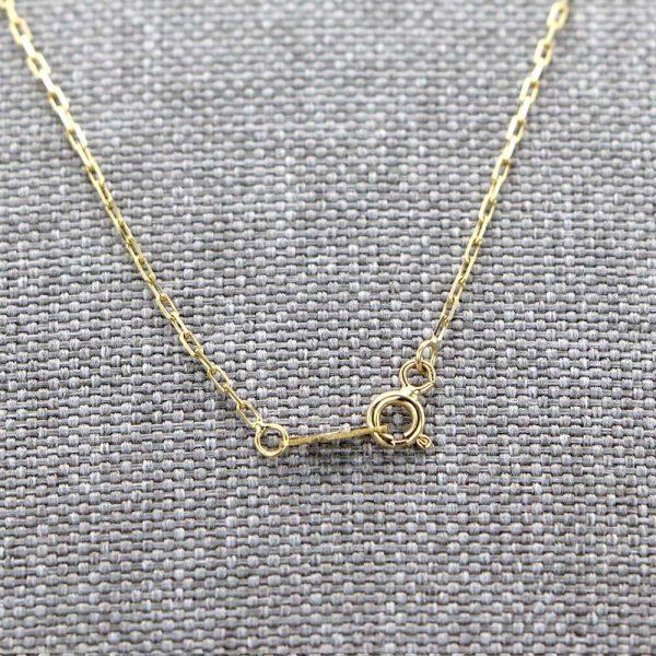 Chaine en or 18 carats Maille Forçat diamantée