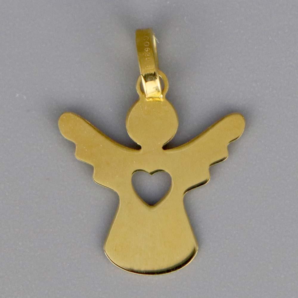 Aubry Cadoret Medaille Bapteme Or 18 Carats Jaune Ange Coeur Cadeaux De Famille