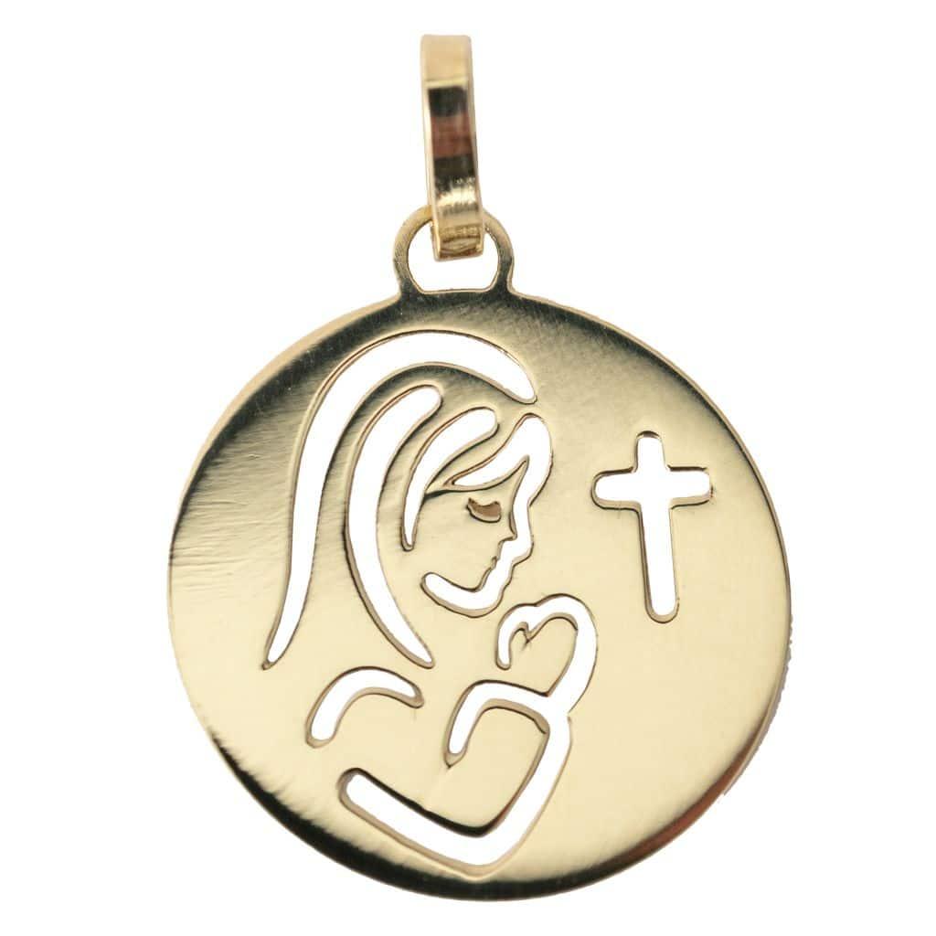 Medaille Vierge avec Croix