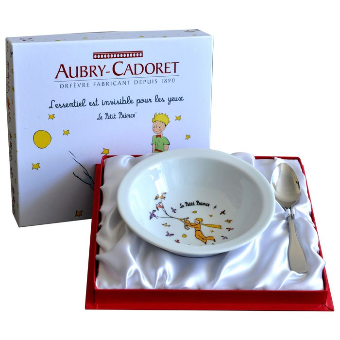 Coffret Assiette et Cuillère Inox Le Petit Prince