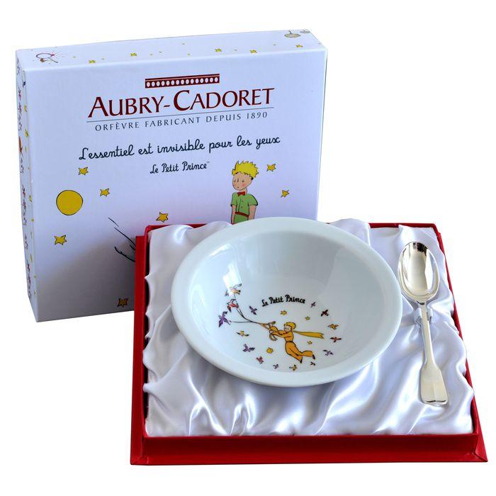 Coffret Assiette et Cuillère métal argenté Le Petit Prince