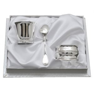 Coffret Coquetier, Cuillère Moka & Rond Elodie