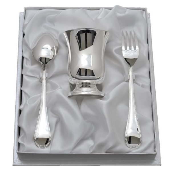 Coffret Timbale et Couverts Cadet Perles