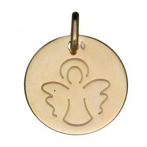 Médaille Ange au Trait en or jaune 18 carats