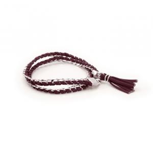 Bracelet Torsade Cuir & Argent