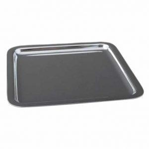 Plateau Carré en métal argenté 18 x 18 cm