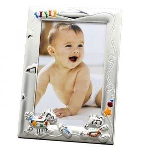 Cadre photo naissance - Jouets multicolores