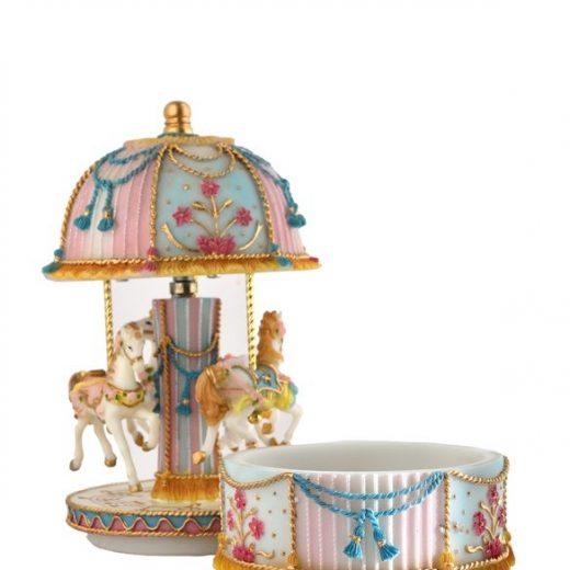 Boite à Carousel musical chevaux-boite