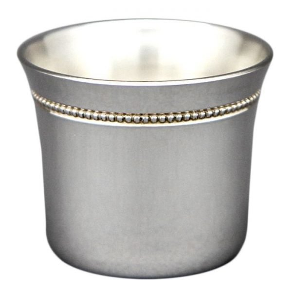 Coquetier perles argent massif métal argenté