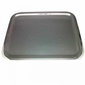 Plateau Courrier en métal argenté 23 x 14 cm