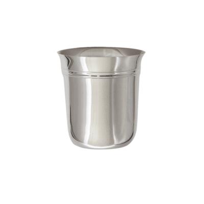 Timbale évasée filet en argent massif et métal argenté