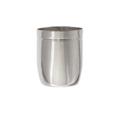 Timbale tonneau filet en métal argenté et argent massif