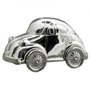 Tirelire voiture coccinelle en métal argenté