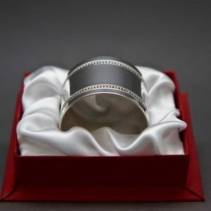 Aubry Cadoret Rond De Serviette En Argent Massif Perles 9200r