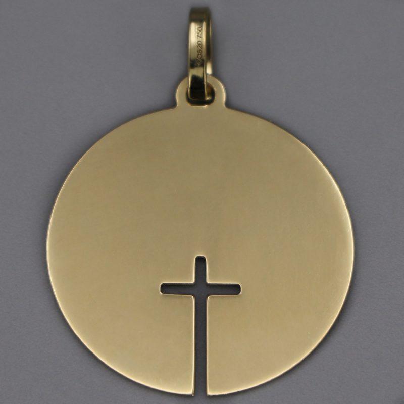 Medaille Bapteme Or 18 Carats Croix Ajouree Aubry Cadoret Cadeaux De Famille