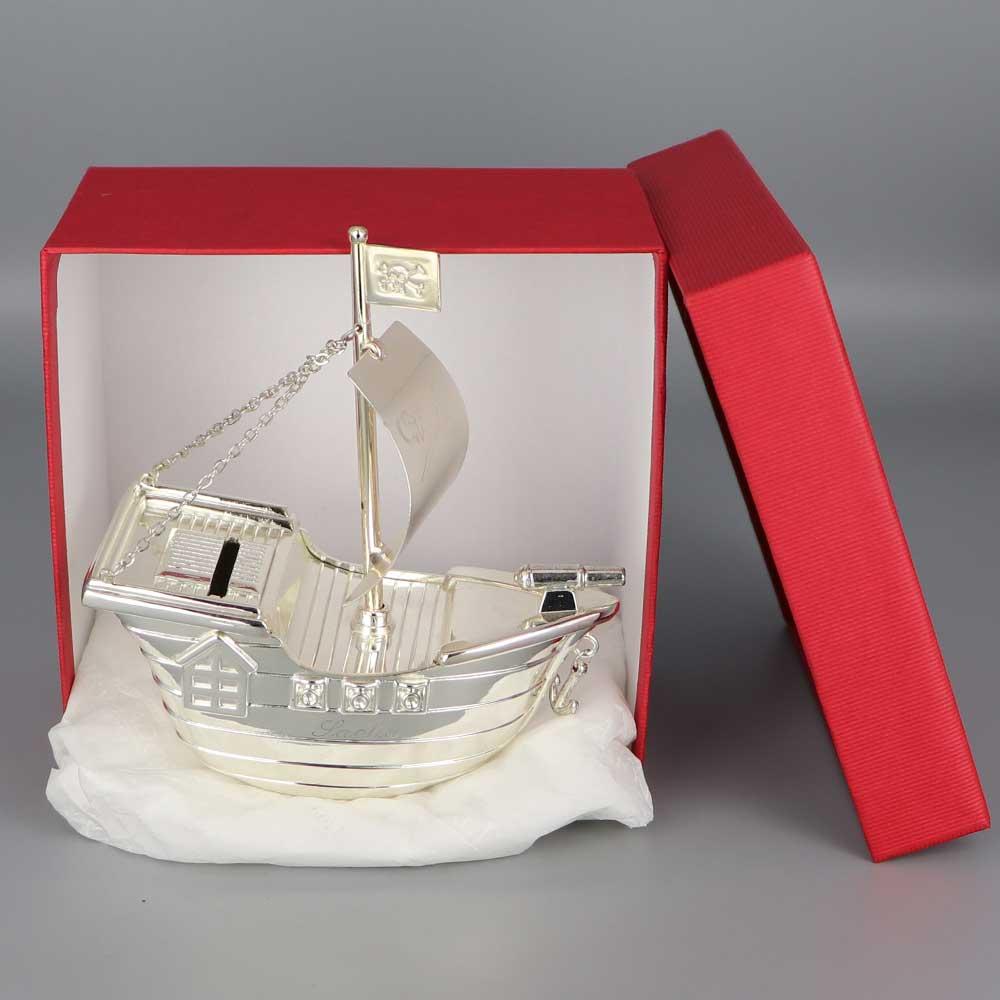 Daniel Cregut Cadeaux De Famille Tirelire Argent Bateau Pirate
