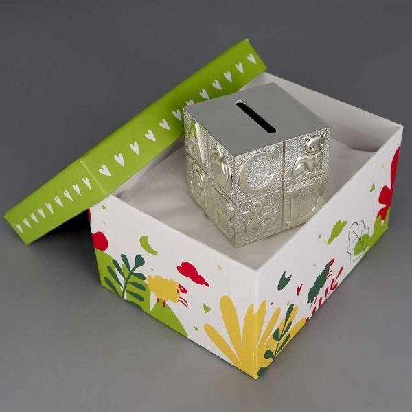 Tirelire Argent Cube Alphabet Cadeaux De Famille Daniel Cregut