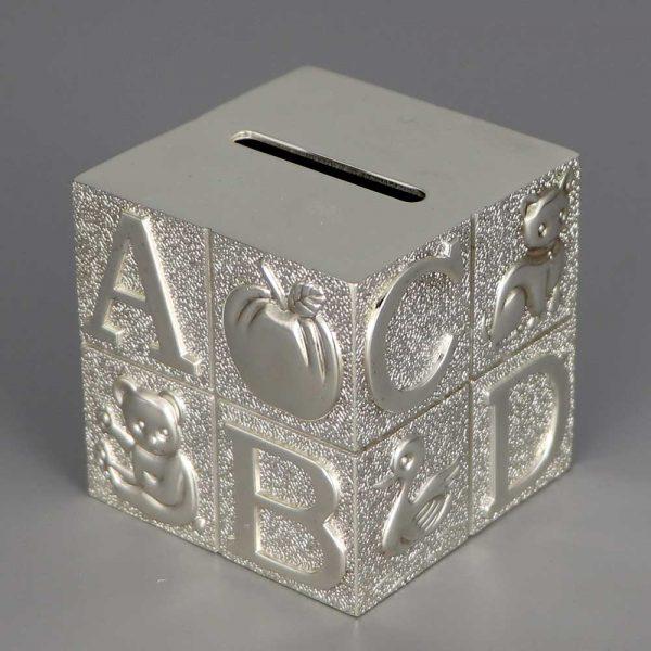 Tirelire En Argent Cube Alphabet Cadeaux De Famille Daniel Cregut