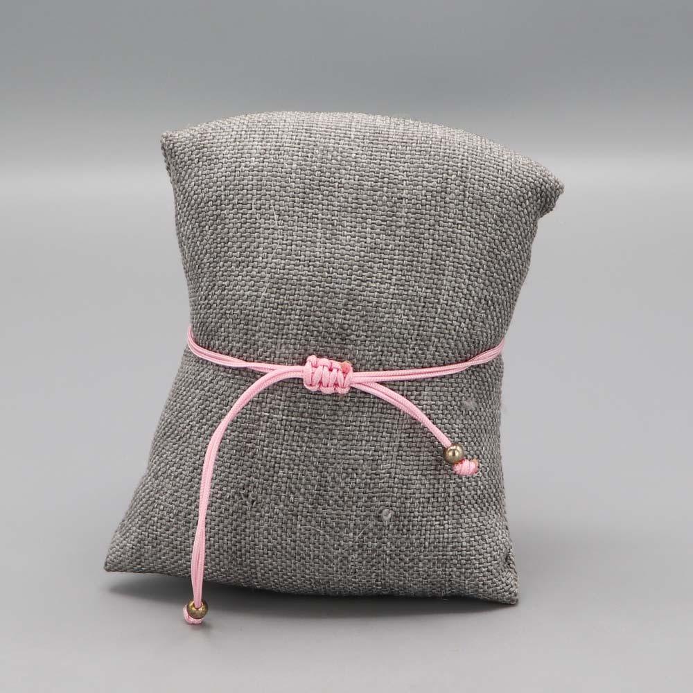 Bracelet Argent Massif Maille Marine Fil Nylon Rose Cadeaux De Famille Aubry Cadoret