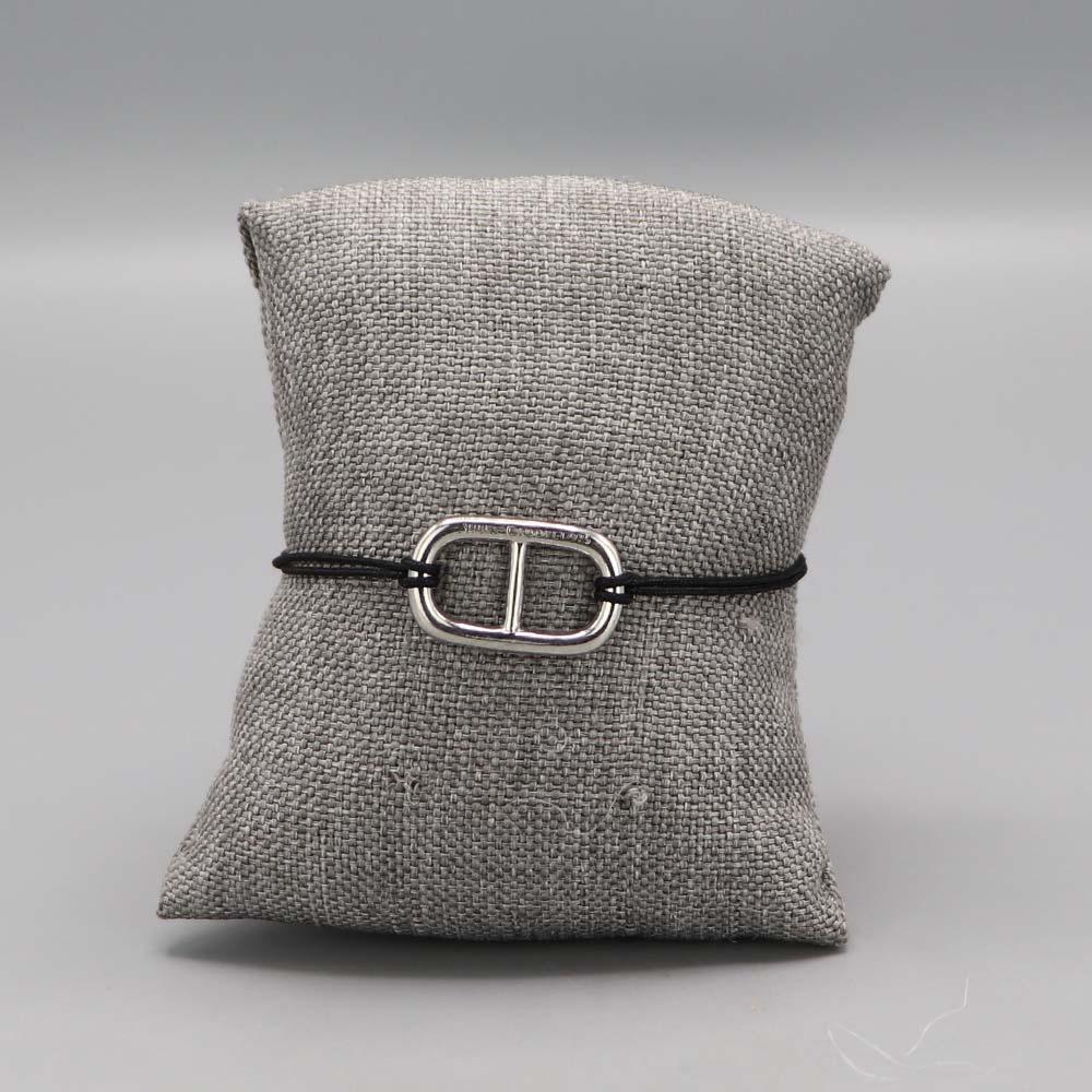 Bracelet Maille Marine Argent Massif Fil Nylon Noir 2 Cadeaux De Famille Aubry Cadoret
