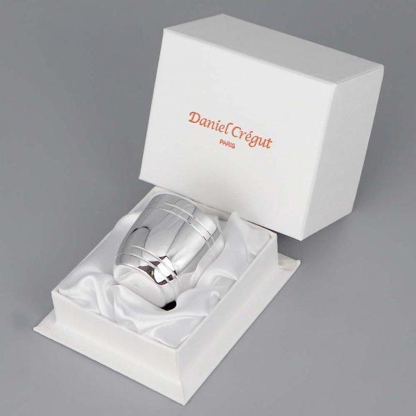 Coquetier En Argent Daniel Cregut Tonneau Filet Double