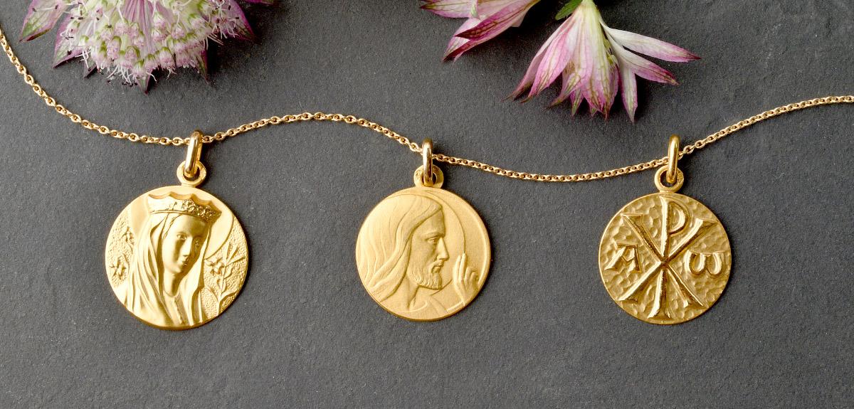 Medailles De Bapteme Or Jaune Cadeaux De Famille 2